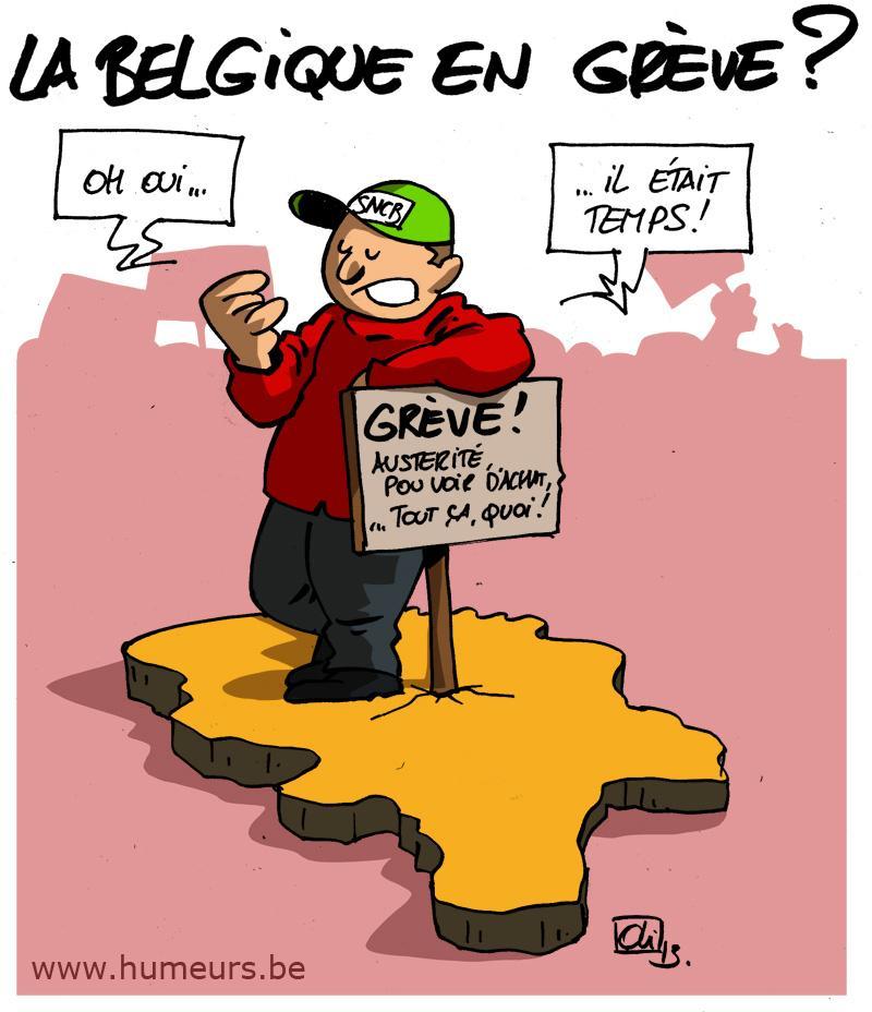 grève Belgique