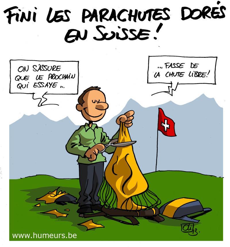 parachutes dores Suisse