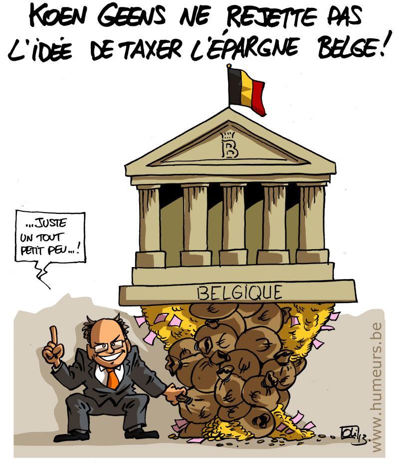 Koen Geens epargne belgique taxe
