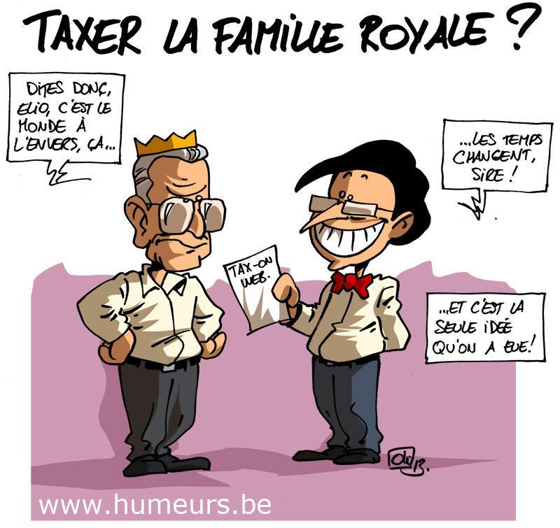 taxer famille royale Belgique