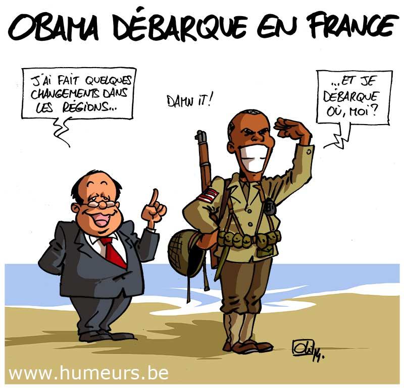 Obama-D-DAY-France-USA