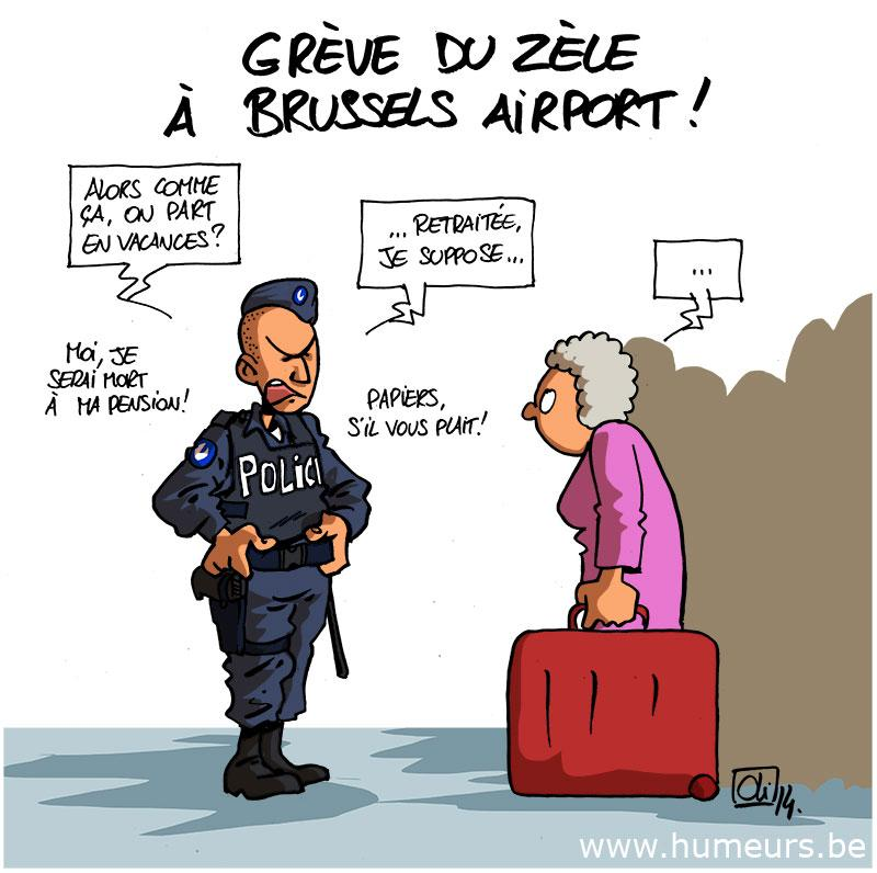 greve-police-Brussels-Airport