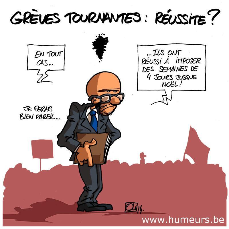 greve-tournante-belgique-Charles-Michel