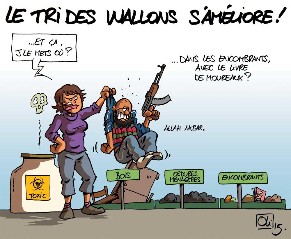 Tri-Dechets-terrorisme