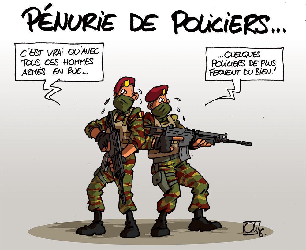 Belgique-manque-Policiers-militaires