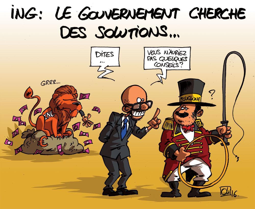 Le gouvernement Michel cherche des solutions pour ING