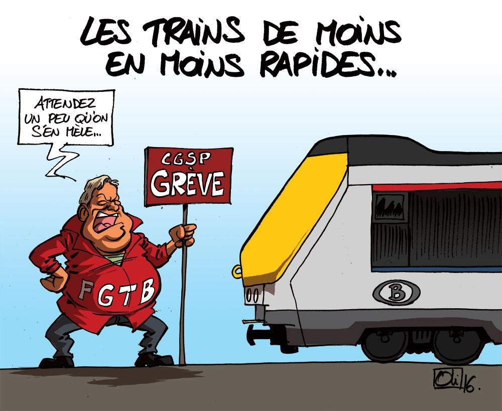 Les trains ralentissent