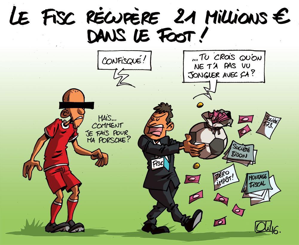 Le fisc récupère 21M€ au foot !