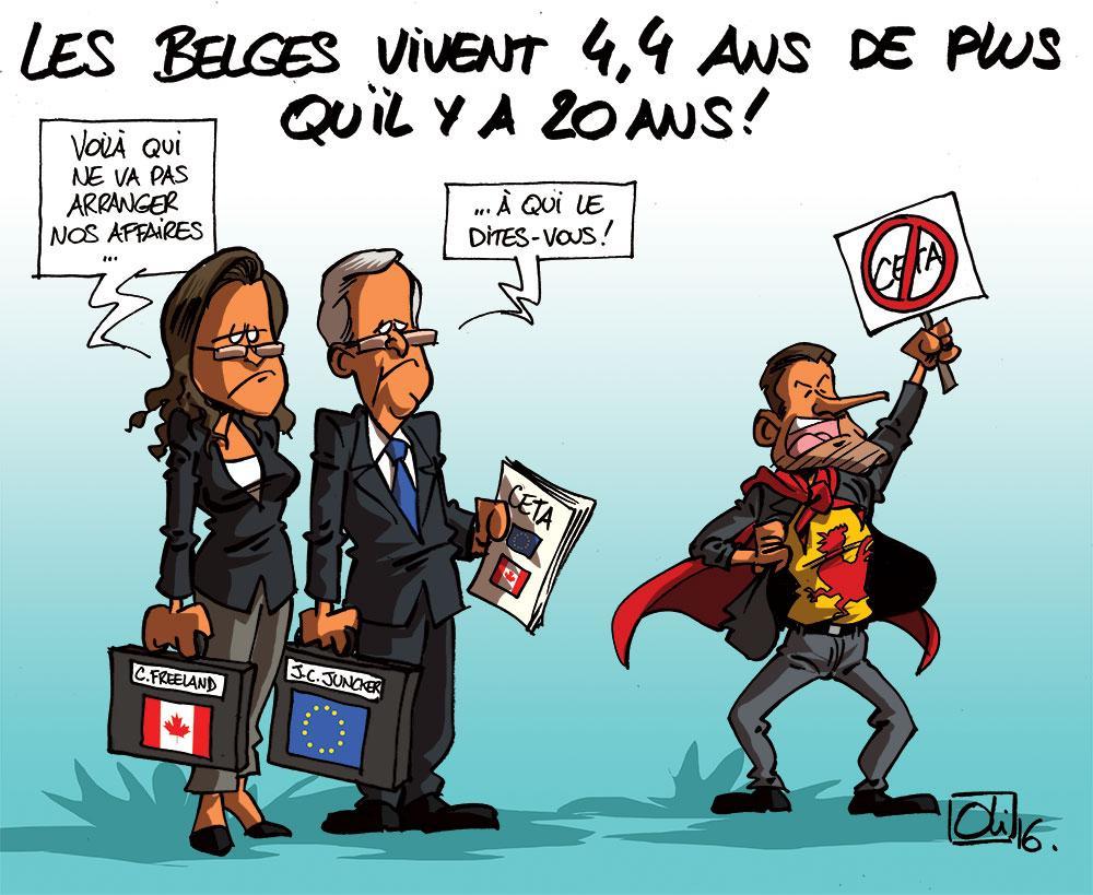 Les belges vivent plus vieux !