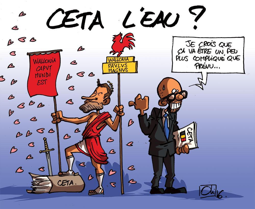 Pour la Wallonie, le CETA c'est toujours non !