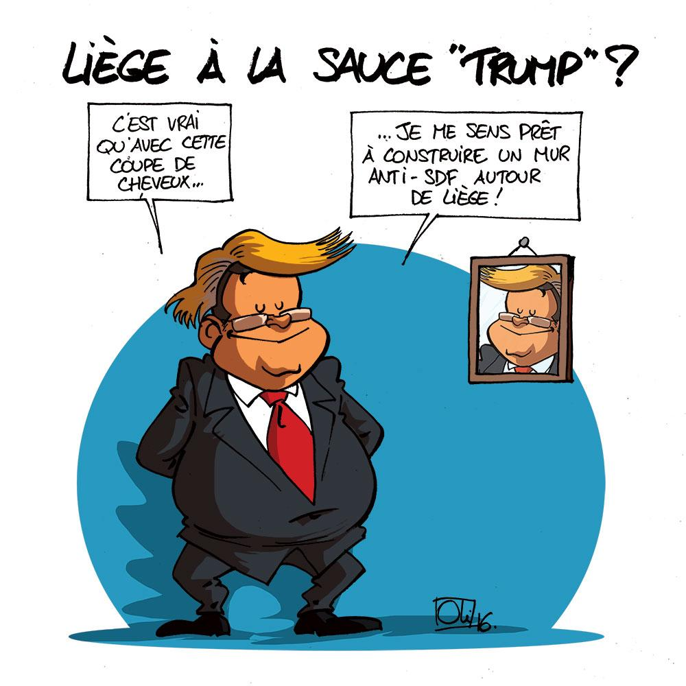 Liège sauce Donald Trump ?