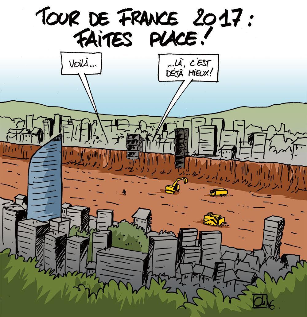 Le Tour de France à Liège demande des aménagements !