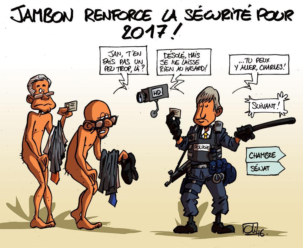 Jan Jambon : toujours plus de sécurité !