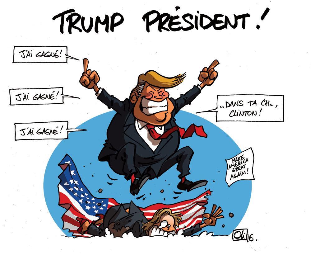 Donald Trump est élu 45e président des USA !