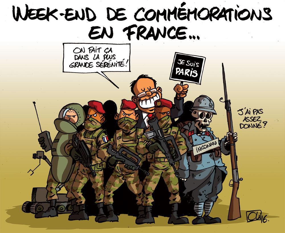 La France commémore l'armistice et les attentats
