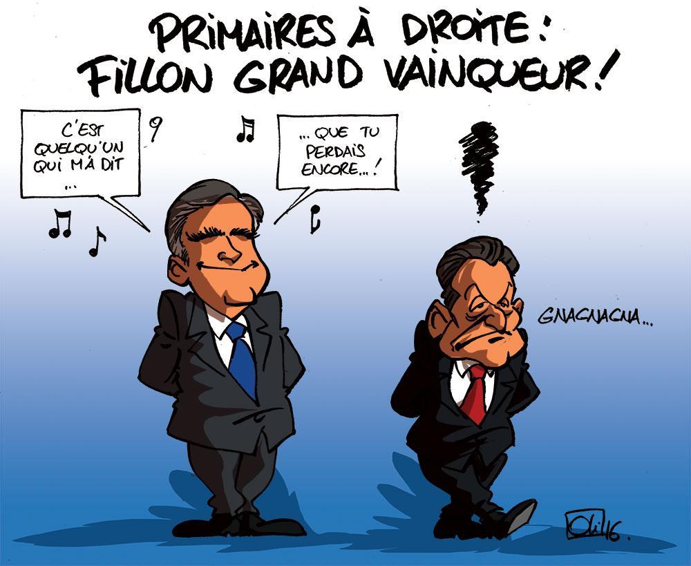 Fillon gagnant, Sarkozy perdant !