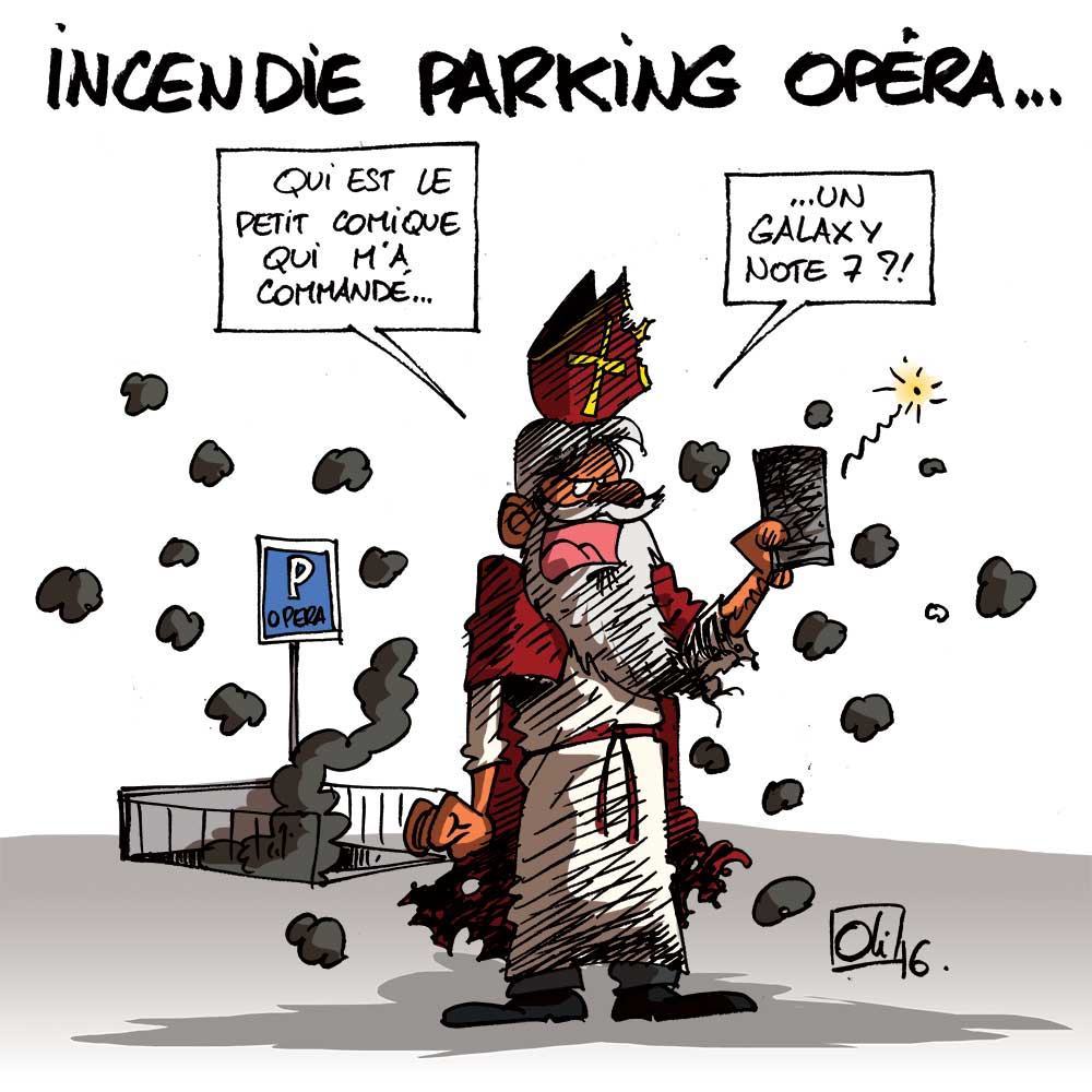 Incendie parking Opéra