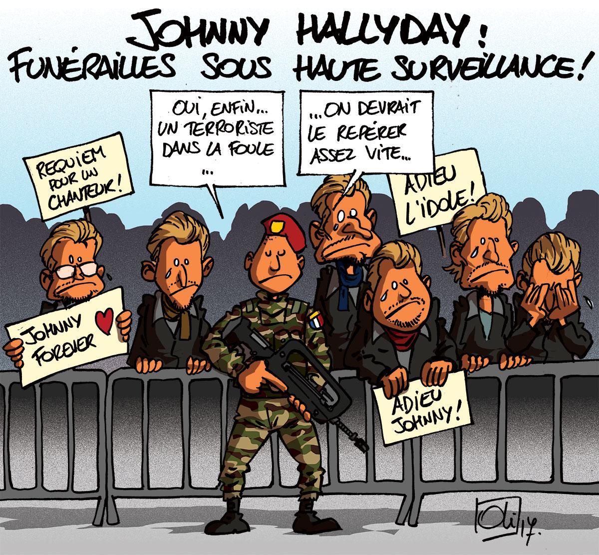 Les Funerailles De Johnny Hallyday Les Humeurs D Oli