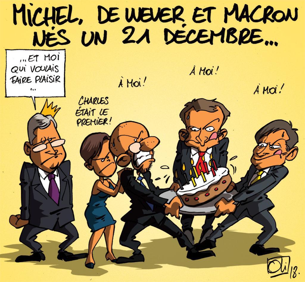 """Résultat de recherche d'images pour """"charles michel macron cartoon"""""""