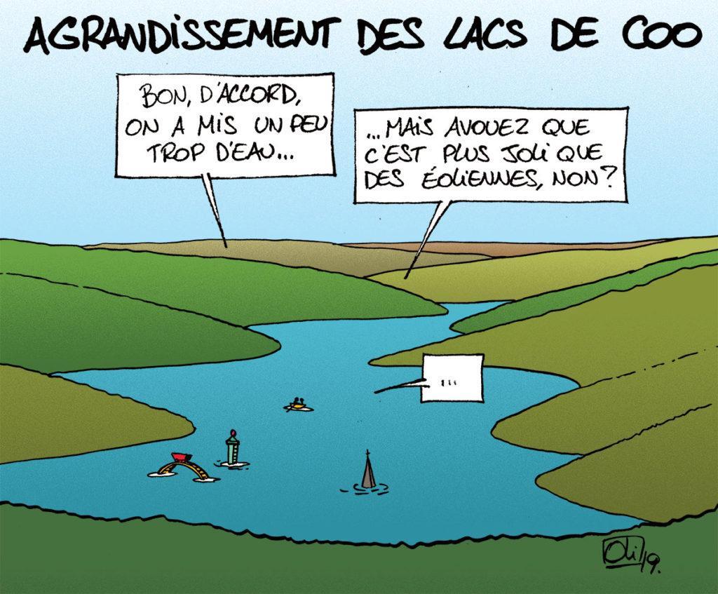 Agrandir les lacs de Coo