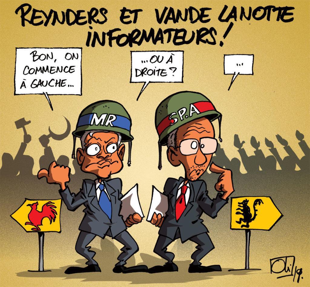 Reynders et Vande Lanotte informateurs