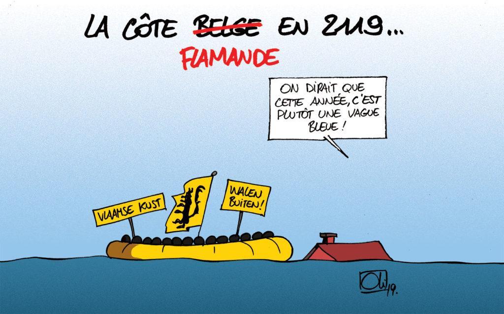 La côte belge vote séparatistes !
