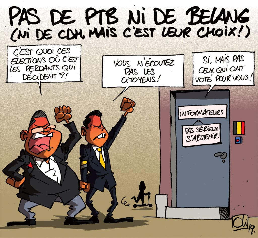 PTB et Vlaams Belang out !