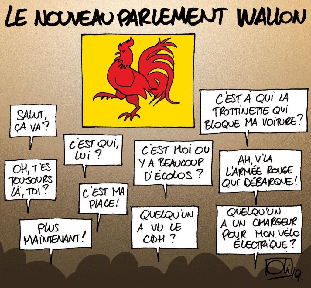 Parlement Wallon : prestations de serment