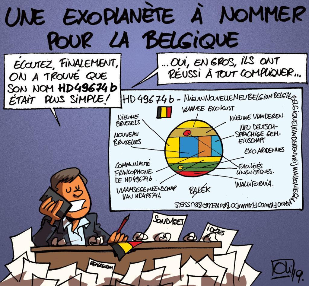 Une exoplanète pour la Belgique