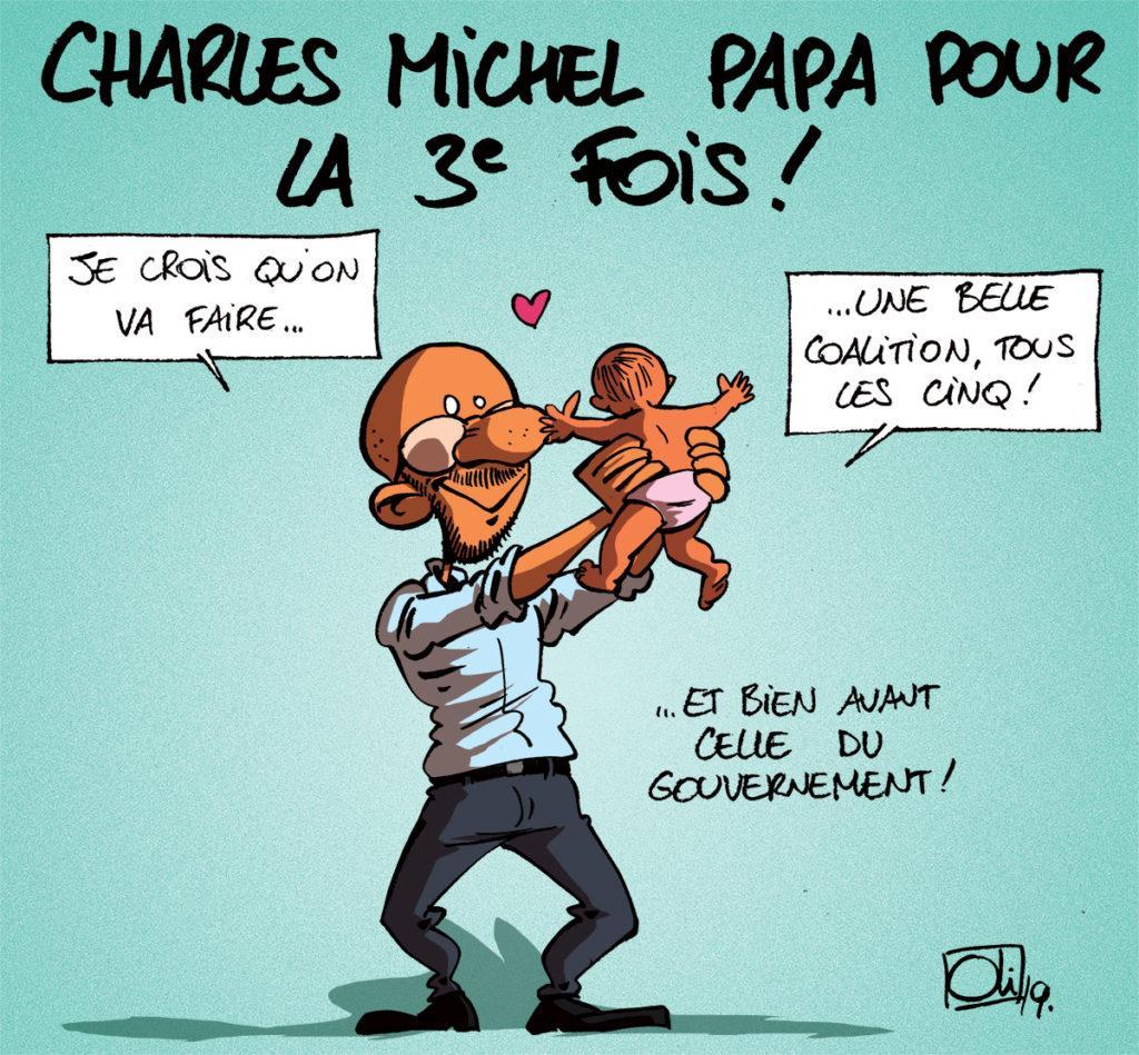 Charles Michel à nouveau papa !