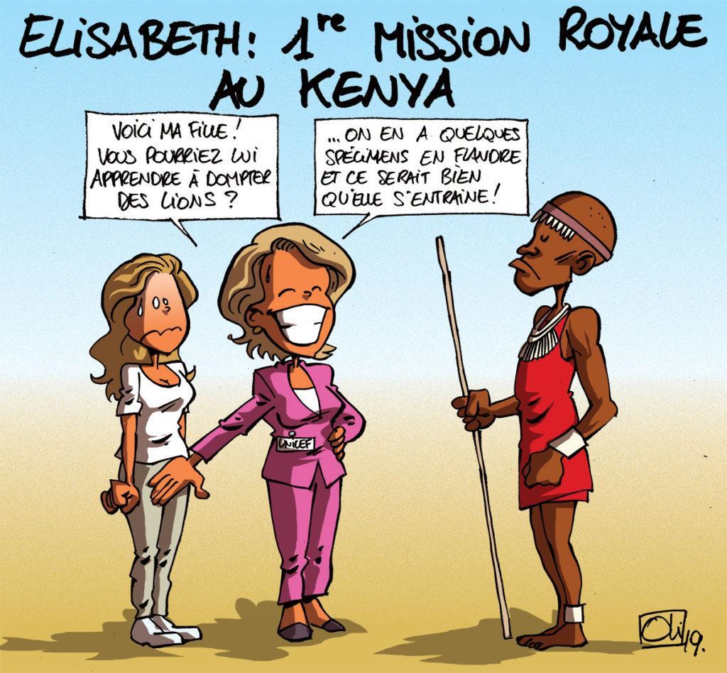 Elisabeth au Kenya