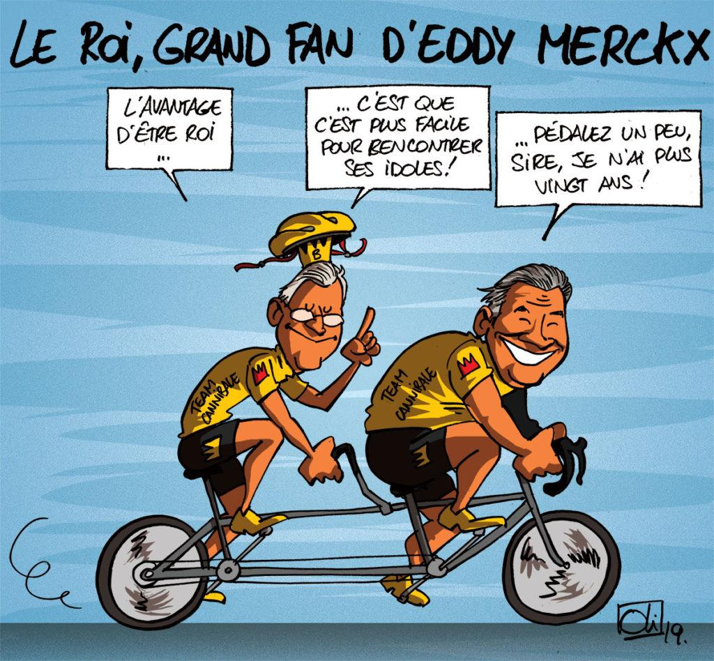 Le roi fan d'Eddy Merckx