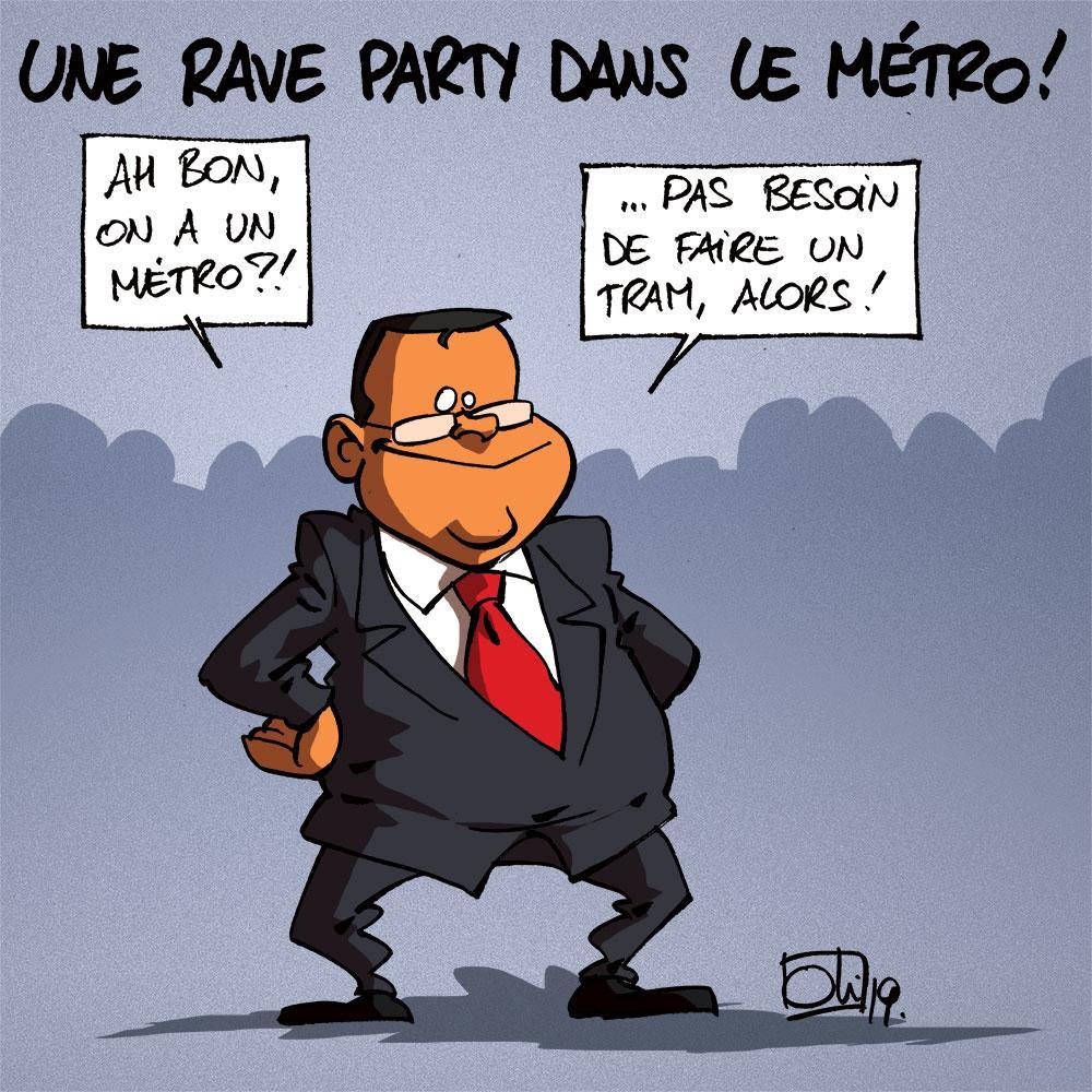 Rave party dans le métro... à Liège !