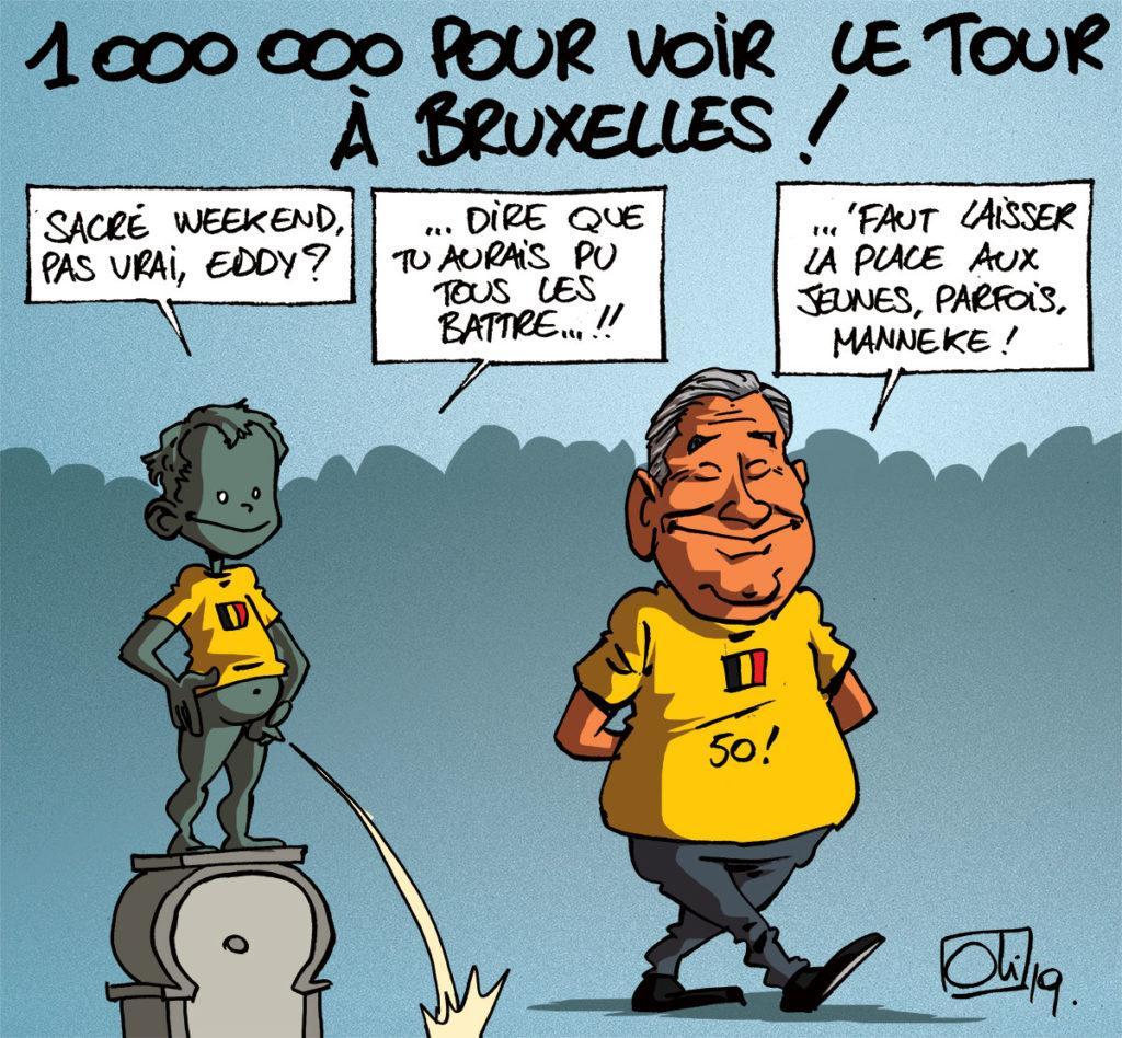 1000000 de spectateurs pour le Tour de France à Bruxelles