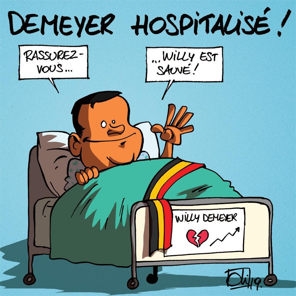 Demeyer hospitalisé