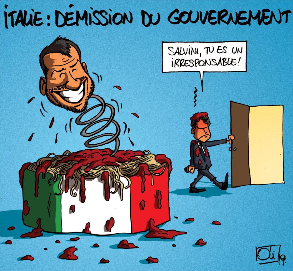 Guiseppe Conte et sont gouvernement démissionnent !