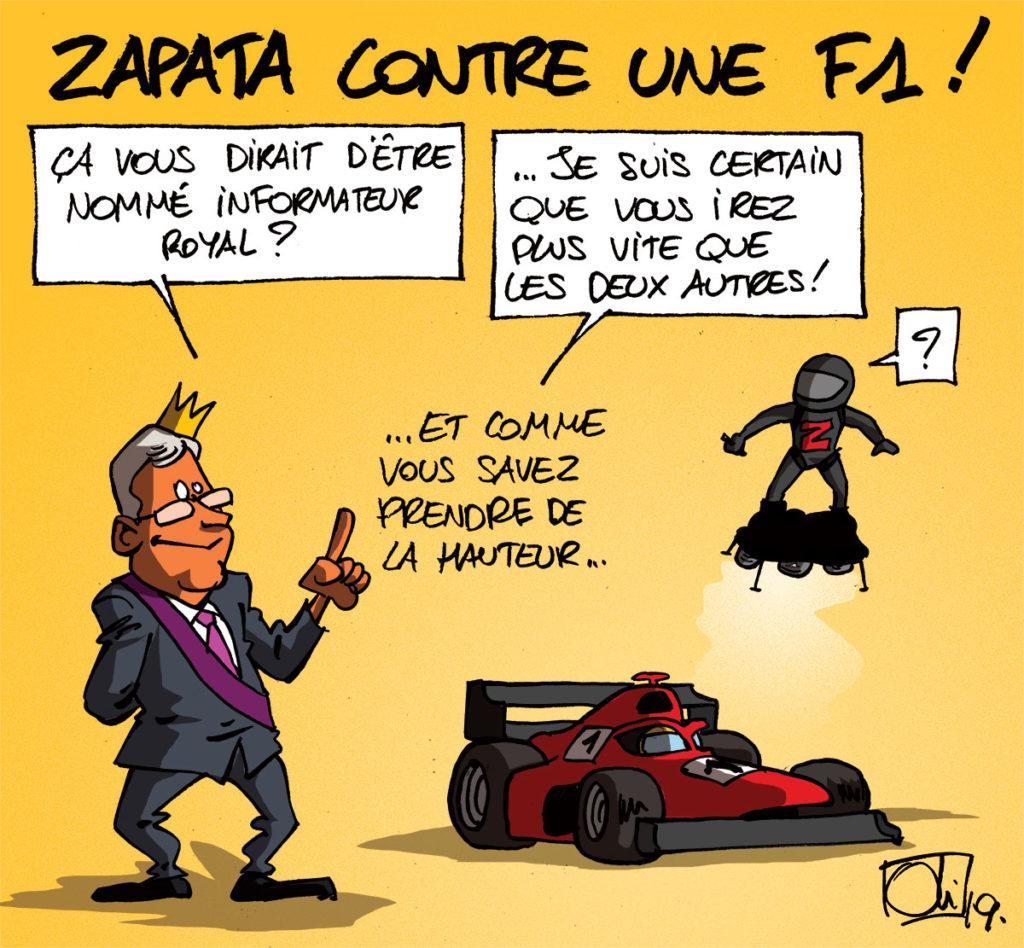 Franky Zapata plus rapide qu'une F1 ?