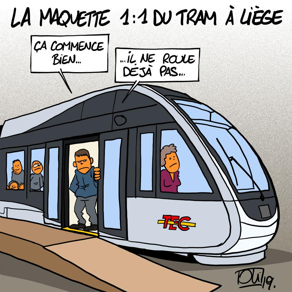 Le tram en maquette à Liège