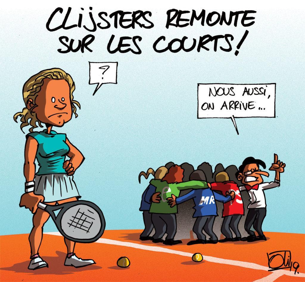 Clijsters de retour... et 2 nouveaux gouvernements