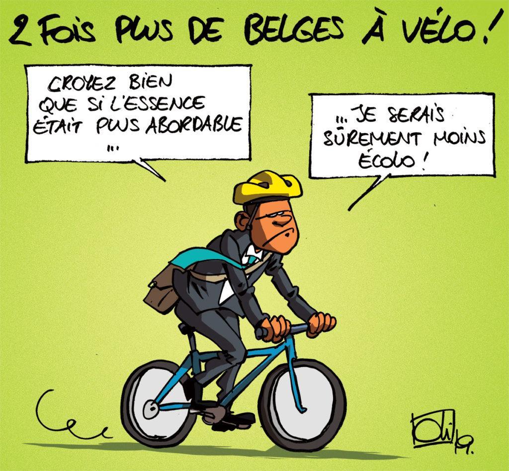 2 fois plus de belges à vélo