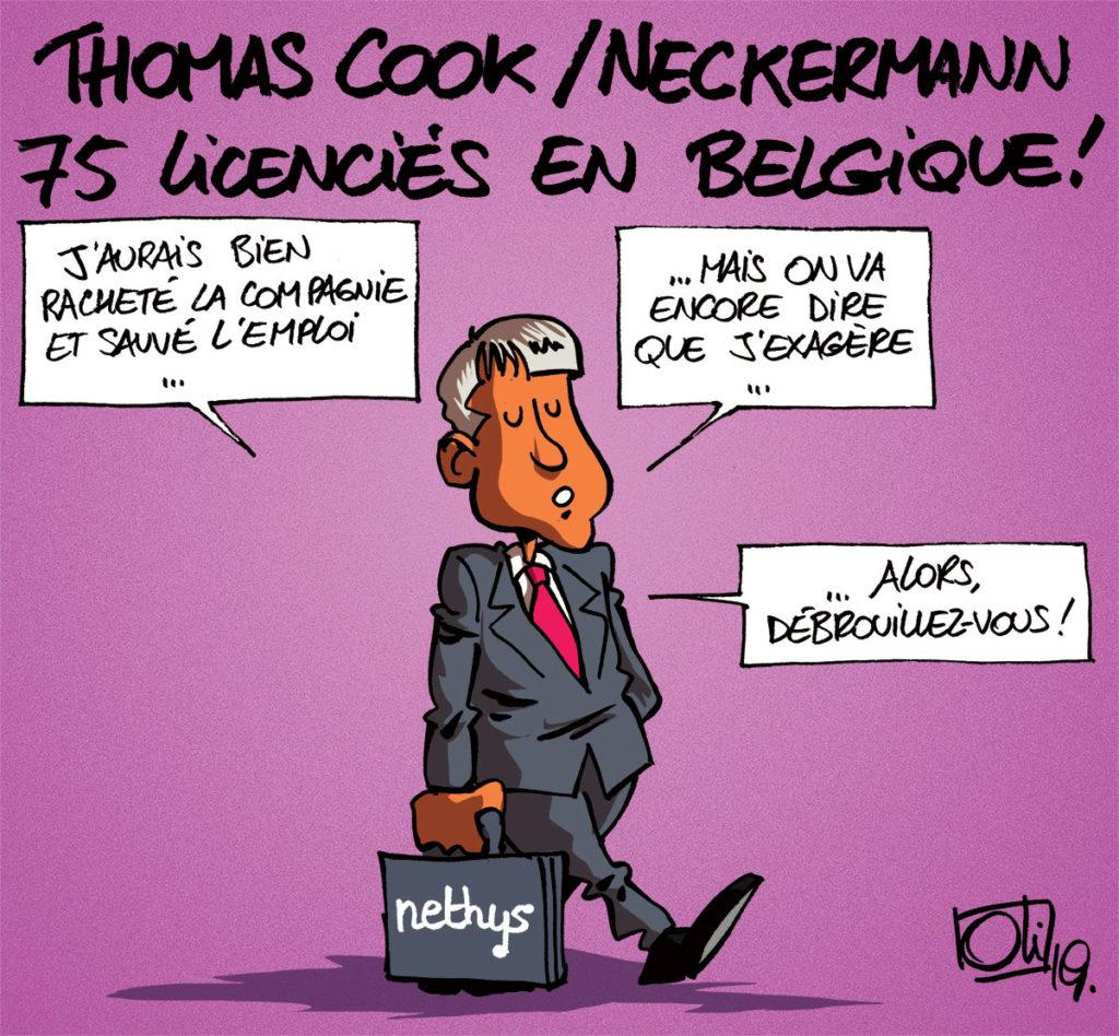 Thomas Cook / Neckermann 75 collaborateurs licenciés