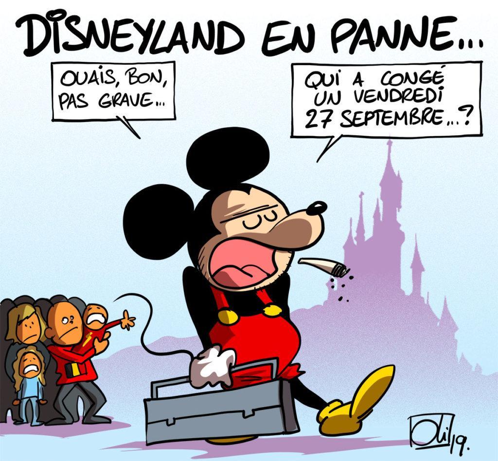 Mickey fait le coup de la panne
