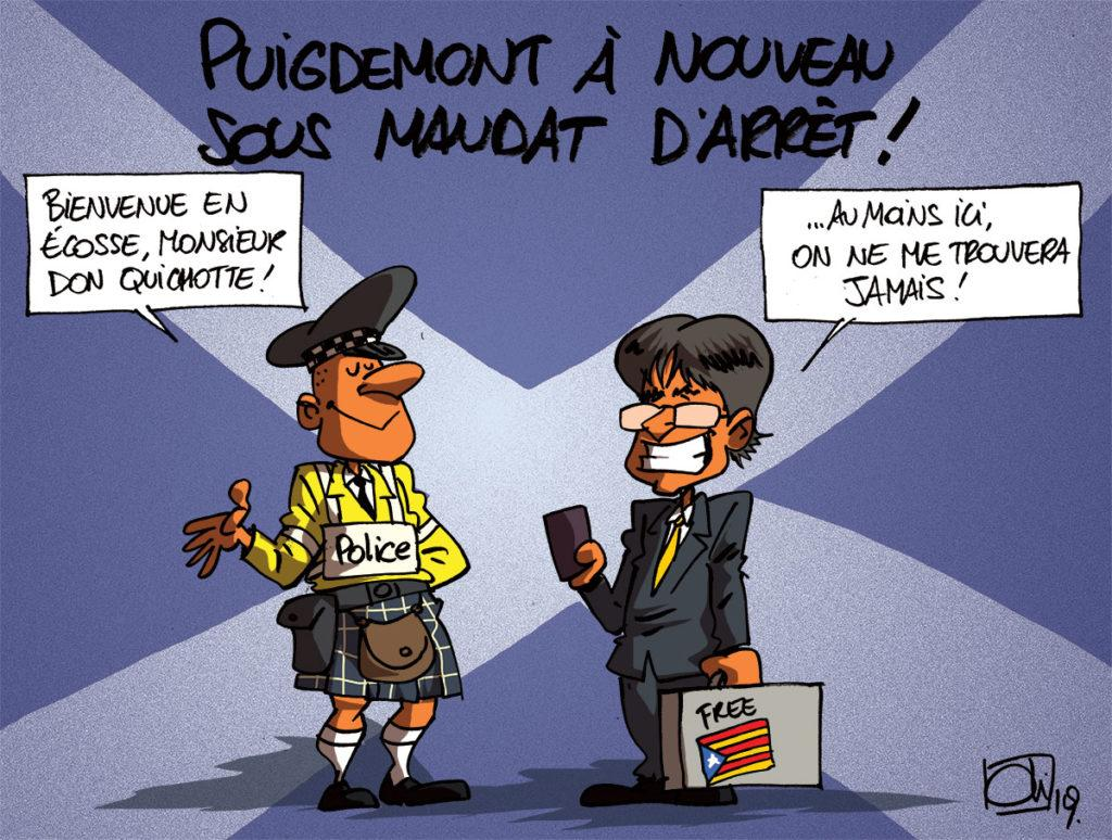 Mandat d'arrêt international sur Puigdemont