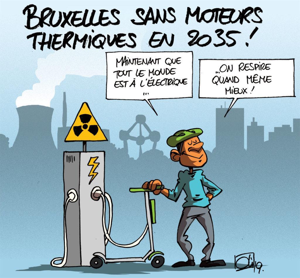 Bruxelles sans essence et diesel en 2035 !