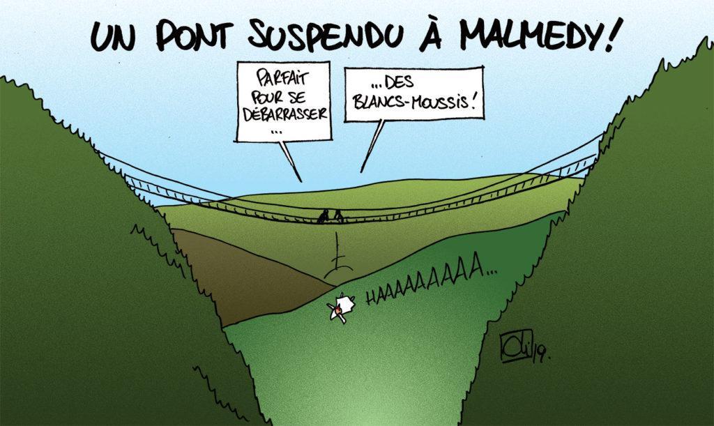 Un pont suspendu à Malmedy, ça va être impressionnant !
