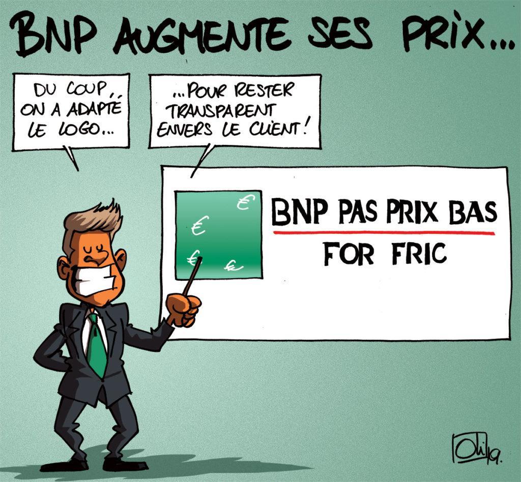 BNP Paribas Fortis augmente ses tarifs !