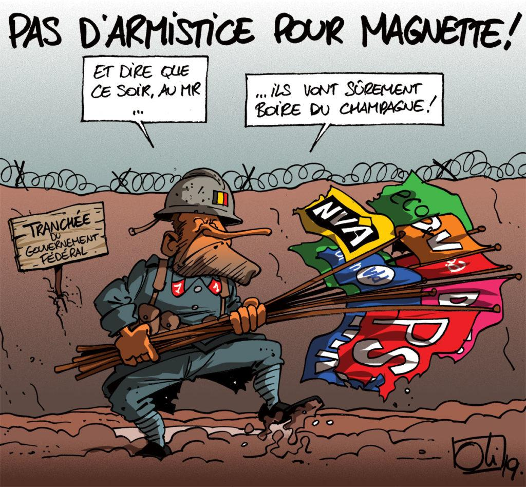 Pas d'armistice pour Magnette !