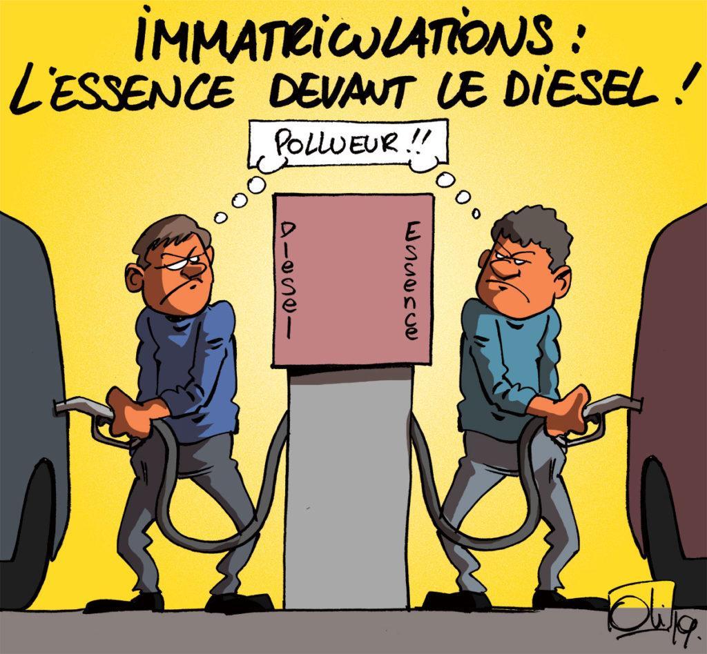 L'essence devant le diesel !