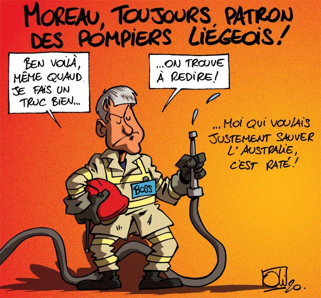 Moreau pompier à Liège