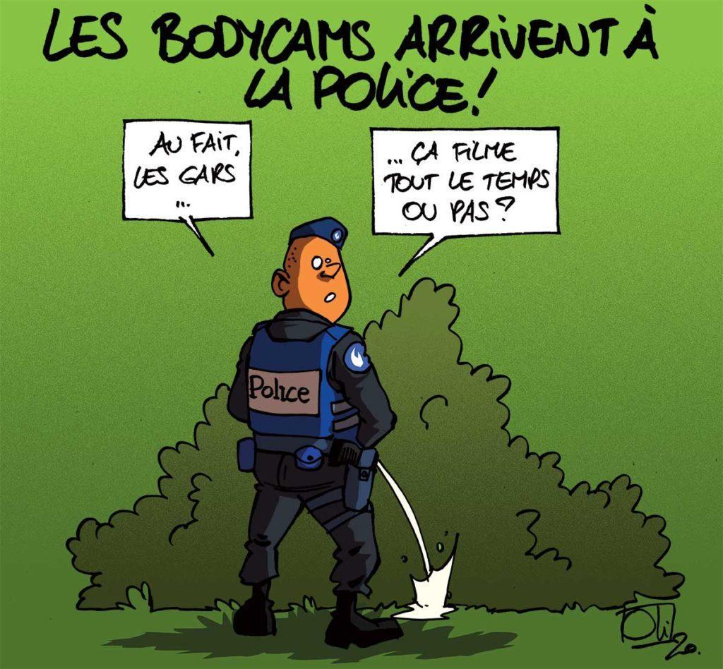 Bodycams à la Police